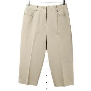 St. John Sport Khaki Cropped Stretch Pants